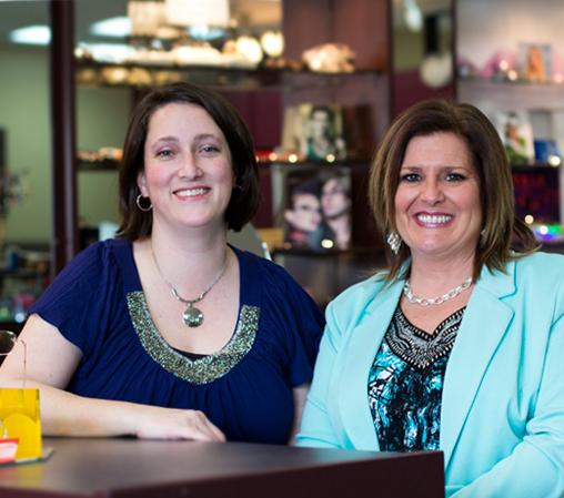 Dr. Vera M. Howe and owner Joan Kick at Optix Eye Design